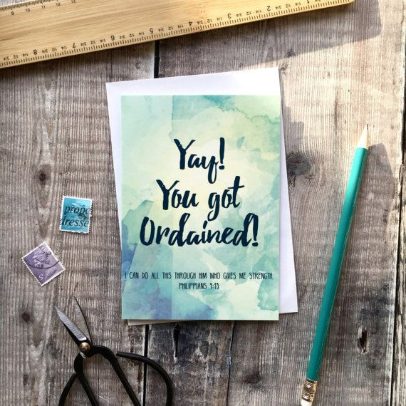 Yay You Got Ordained Izzy & Pop Card  Ordination Card