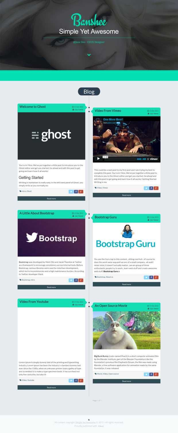 10+ Best Ghost Themes For Ghost CMS