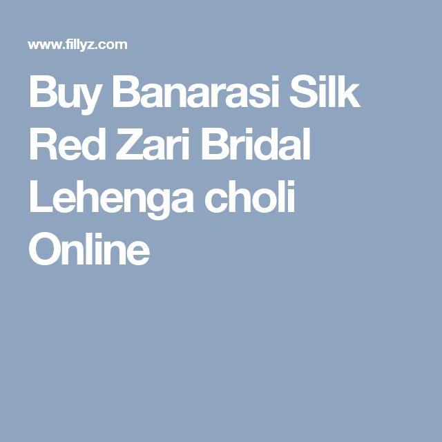 Buy Banarasi Silk Red Zari Bridal Lehenga choli Online
