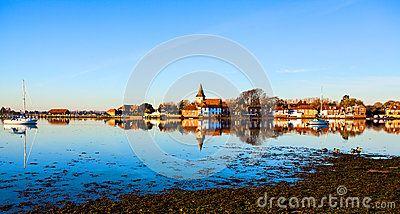 A beautiful view of Bosham village across the bay.