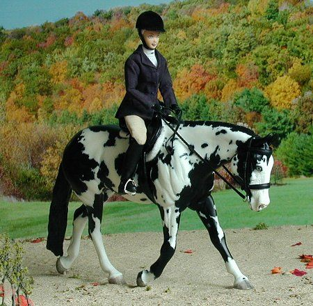 Breyer Paint horse and rider HUS :)