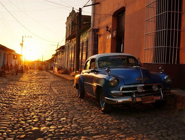 Carros clasicos de la isla olvidada Trinidad Cuba