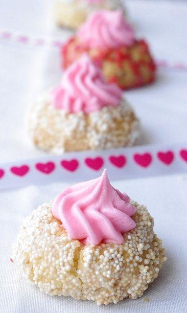 Valentine's Day Thumbprint Cookies