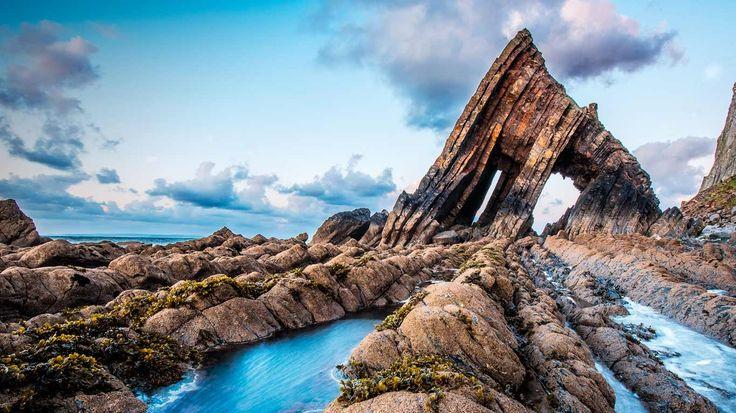 Bing Image Archive: Blackchurch Rock on the North Devon coast, England (© Mike Wilson/Nature's Beauty/Aurora Photos)(Bing New Zealand)
