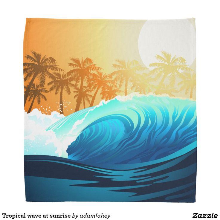 Tropical wave at sunrise head kerchiefs