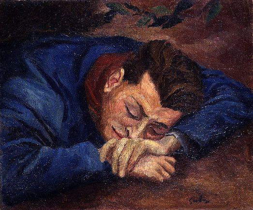 Renato Guttuso - Miliziano A Riposo (Ritratto Di Antonello Trombadori)