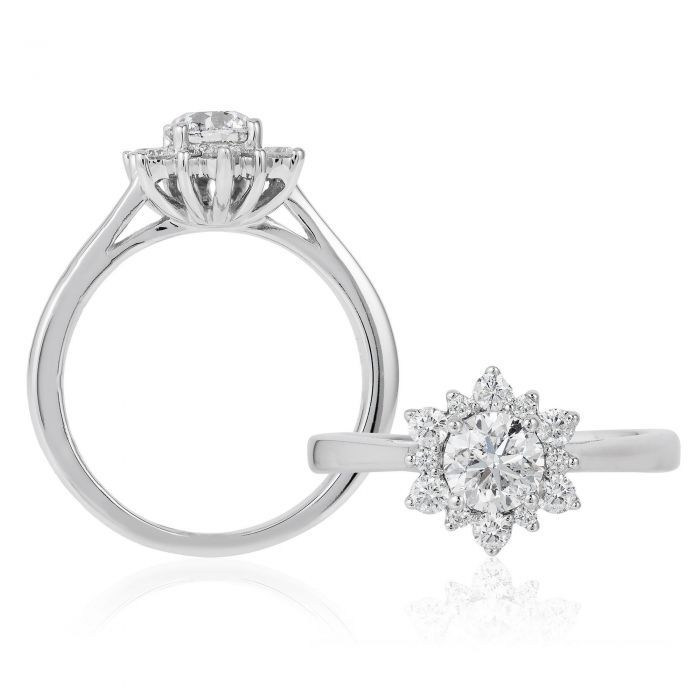 Enchanted Disney Fine Jewelry Elsa S Snowflake Diamond Engagement Ring 1ctw Fashion Jewelry Earrings Minimalist Jewelry Display Fine Jewelry Bangle