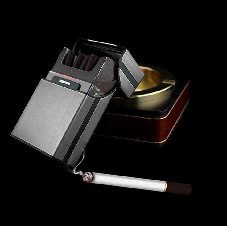 6 Colores de Aluminio del Metal Caja De Almacenamiento Cuadro Titular de Bolsillo Del Cigarrillo Del Cigarro Del Tabaco