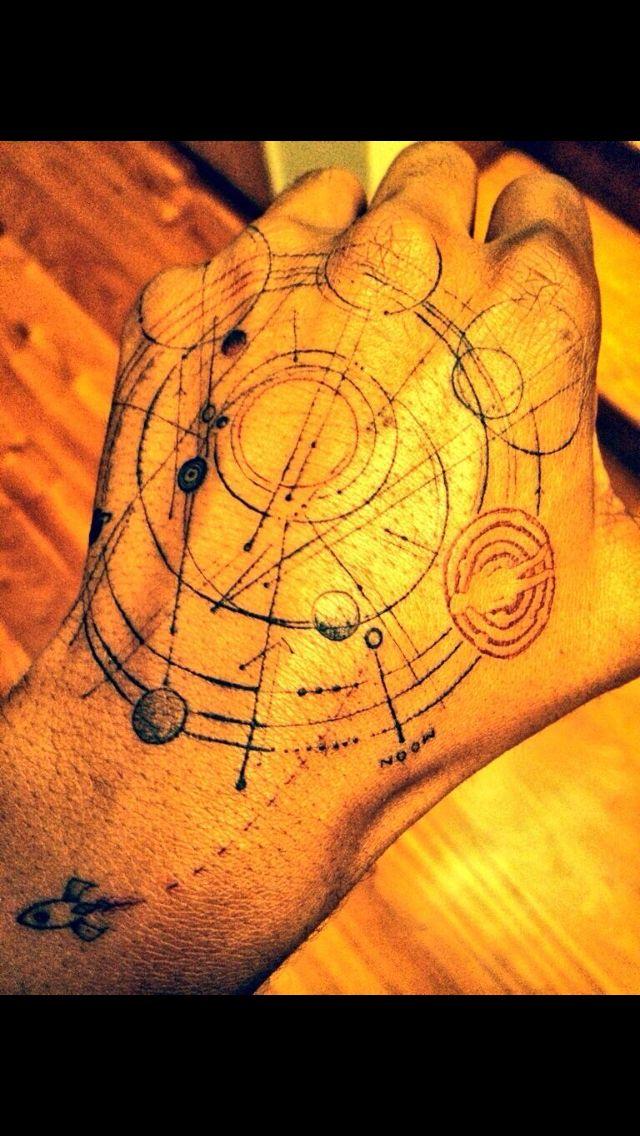 Kid Cudi newest tattoo #tattoo #ink #kidcudi #solar