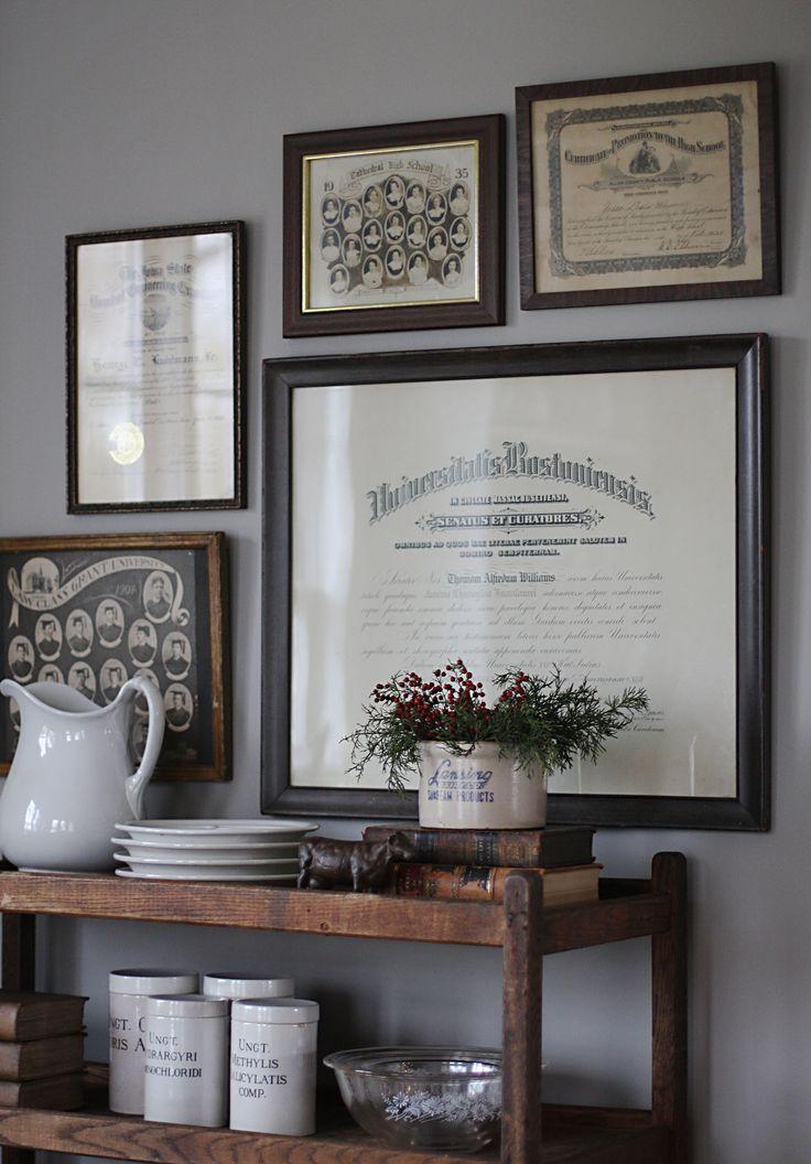 old diplomas/class photos