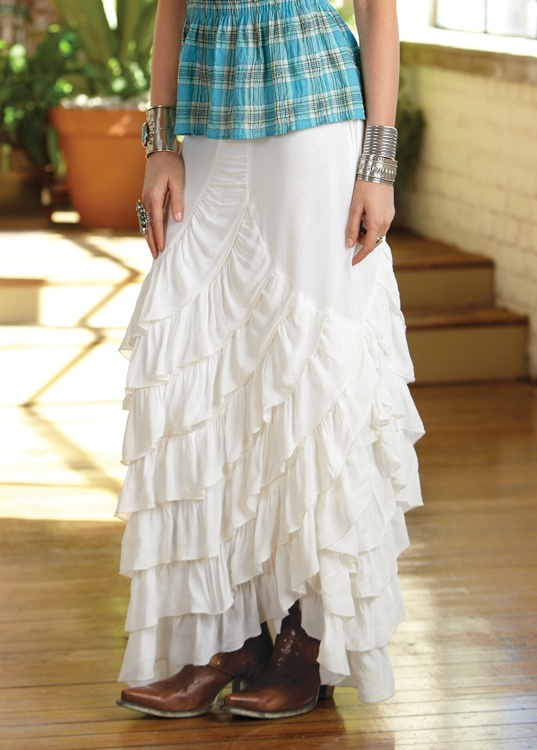 Zorro Skirt White Wear Western Wear For Women Fashion