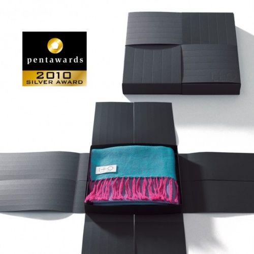 Упаковка по-японски Предельно лаконичные коробки для шарфов