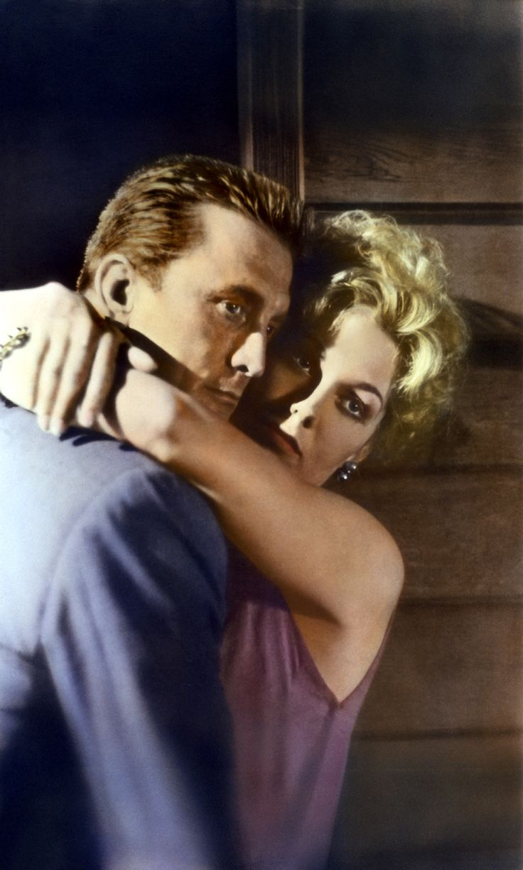 KIM NOVAK AND KIRK DOUGLAS. THE HOKEY POKEY MAN AND AN INSANE HAWKER OF FISH BY CONNIE DURAND. AVAILABLE ON AMAZON KINDLE.