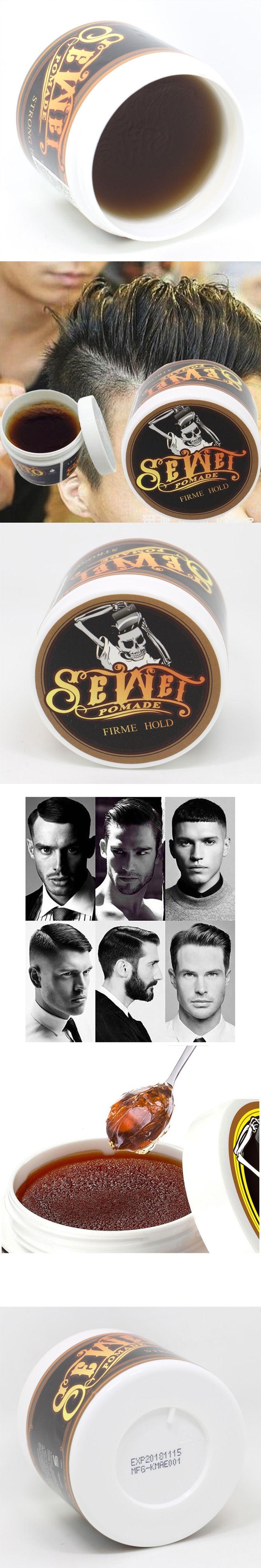 Men Hair Pomade Strong Style Restoring Pomade Hair Waxes Skeleton Cream Slicked Oil Mud Keep Men Handsome