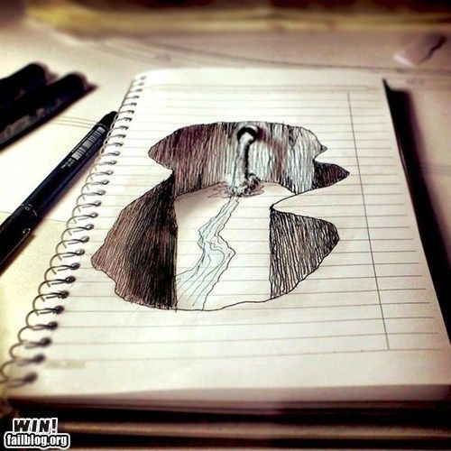 a doodleOptical Illusions, 3D Drawing, Doodles, Art Journals, Street Art, Sketches, Pencil Drawing, Streetart, 3Ddrawing