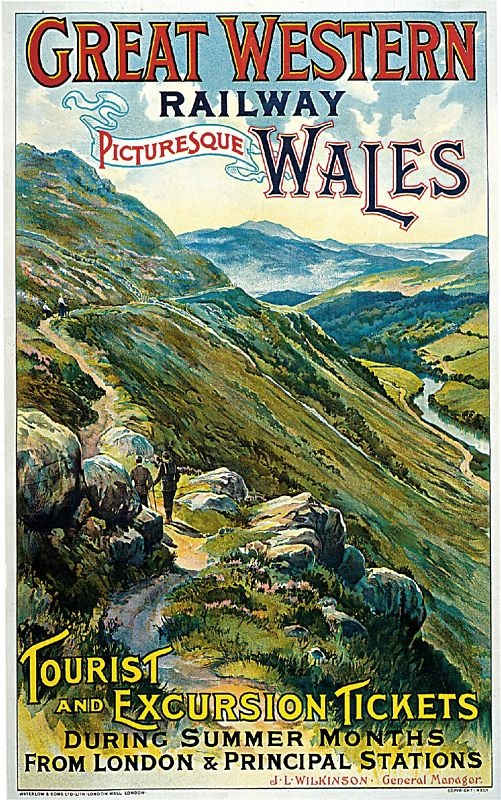 1902 Great Western Railway Art Travel Poster Print | eBay