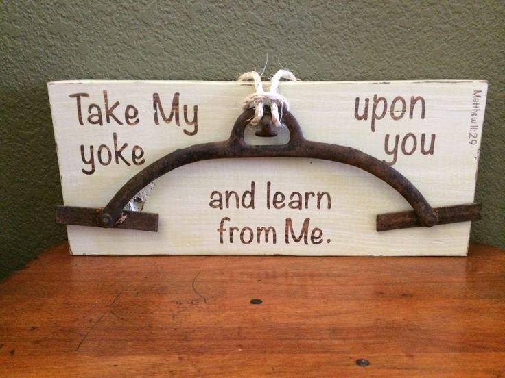 iCatholic - 'Shoulder my yoke and learn from me ...