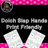 Dolch Slap Hands: Print friendly edition