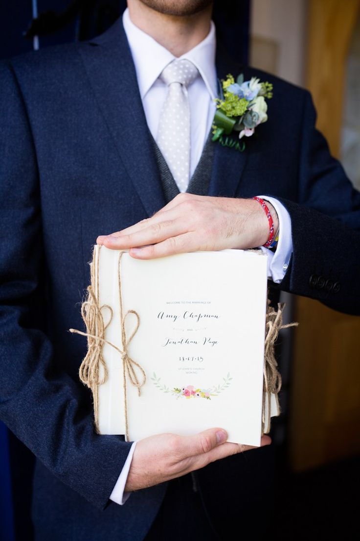 Order of Service Stationery Twine Floral Pretty Fresh Summer Wedding http://www.charlotterazzellphotography.com/