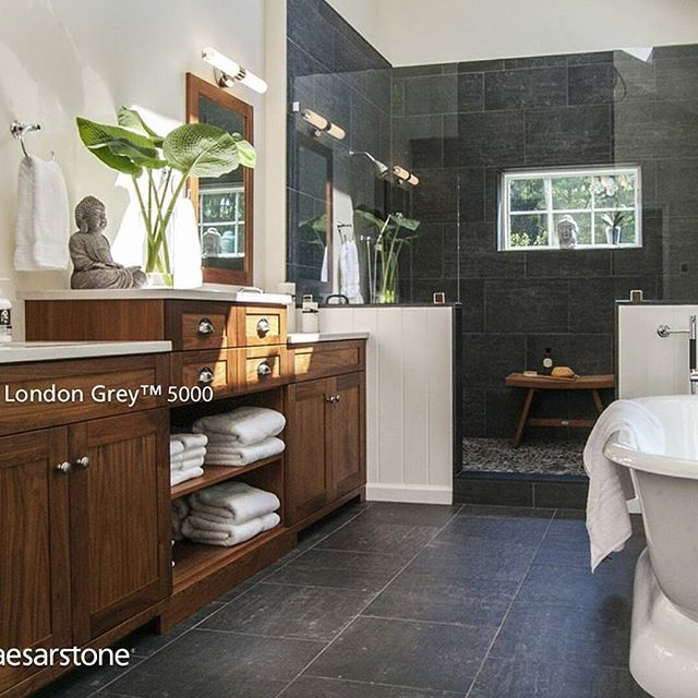 78 best images about caesarstone london grey on pinterest - Banos con marmol ...