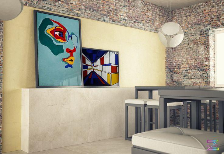 My paintings:Dream and Explore (acryl on canvas) Perspective (acryl on canvas)  #vibrantcolors #moderninteriordesign #acrylpainting