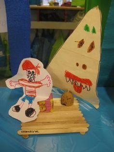 Piratenschip knutselen