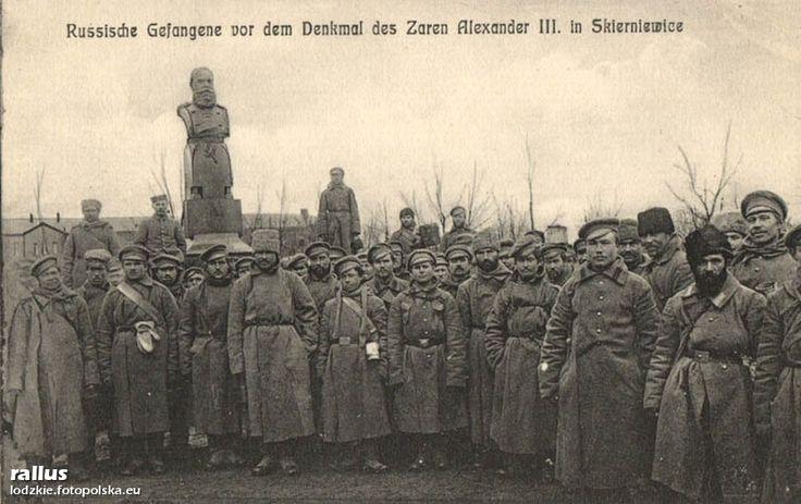 Pomnik cara Aleksandra III, Skierniewice - 1915 rok, stare zdjęcia