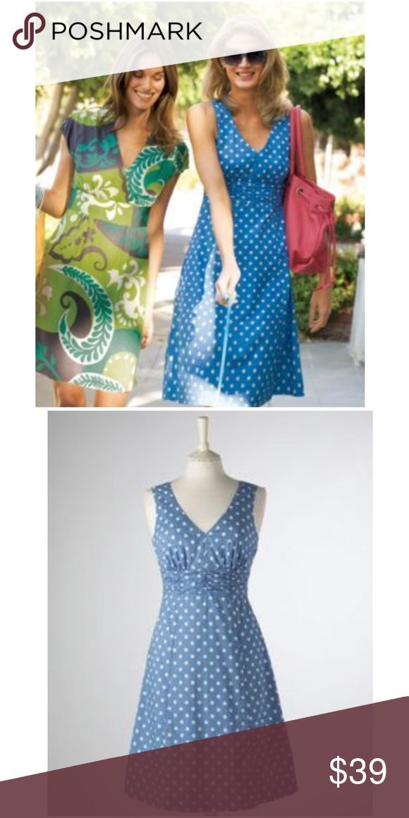 NEW LISTING💜Boden Blue Polkadot Riviera Dress Size UK 14, US 10. Smart day dress perfect for drinking wine in the south of France, with huge shades & espadrilles. Double v-neckline. Pleated empire waist. Hidden side zipper. Lined. 100% cotton. EUC  💟Fast 1-2 day shipping 💟Reasonable offers accepted 💟Purchase 3 or more items & get a special bundle rate!  💟Smoke-free home Boden Dresses