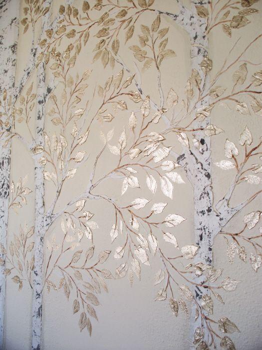 Plaster Stencil Aspen Tree | Walls Stencils, Plaster Stencils, Painting Stencils, Plaster Molds