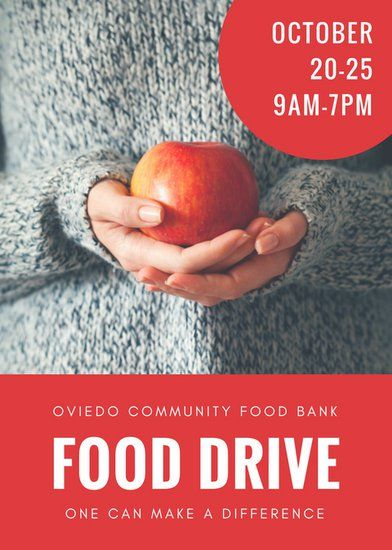 Red Photo Food Drive Flyer