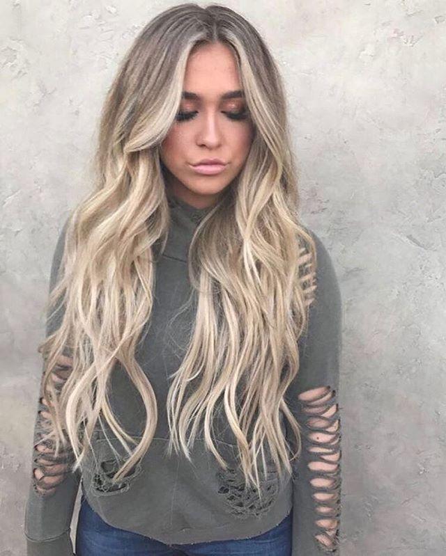 Blonde balayage hair color #haircolor #balayage