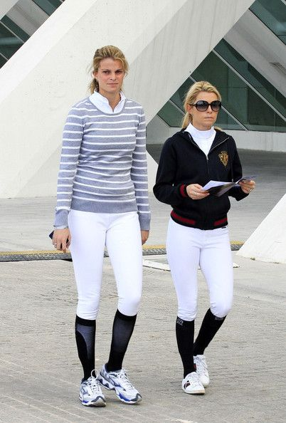Athina Onassis - Charlotte Casiraghi and Athina Onassis Roussel at the Global Champions Tour
