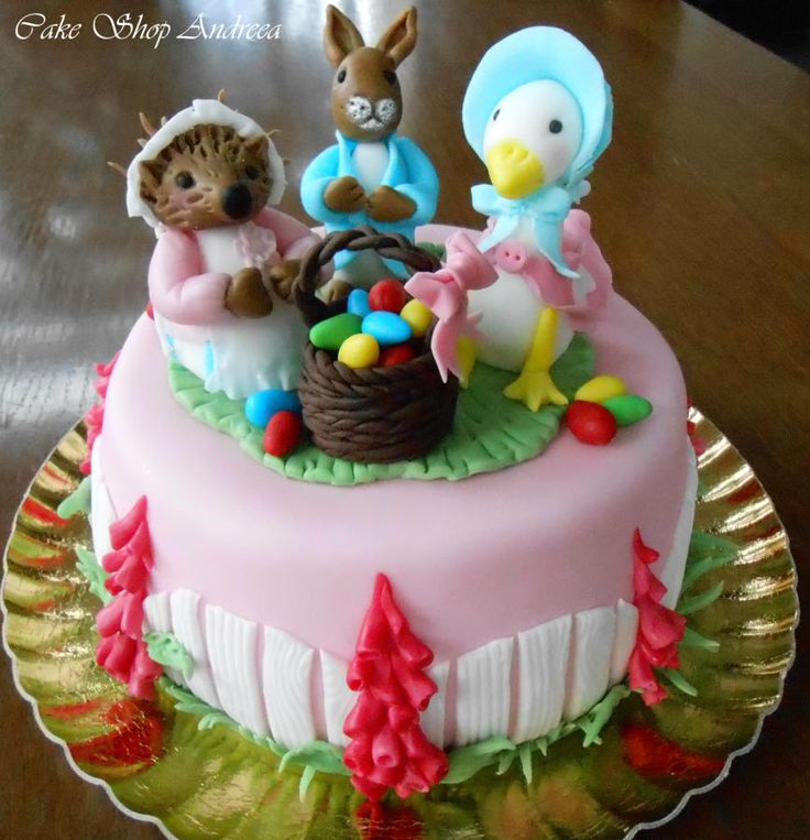 Peter the rabbit and friends - Cake by lizzy puscasu