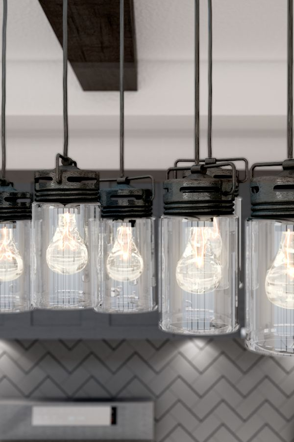Achieve a rustic vibe in the kitchen by swapping out builder grade track  lighting for aBest 25  Rustic track lighting ideas only on Pinterest   Rustic  . Diy Kitchen Track Lighting. Home Design Ideas