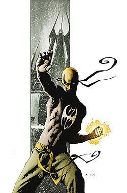 "Iron Fist (Daniel ""Danny"" Rand) - New Avengers - Cover of The Immortal Iron Fist #1 - art by David Aja - Marvel Comics"