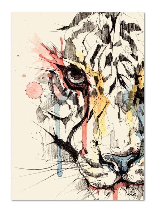 Esta obra esta echa por un diseñador de Barcelona, Marti Serra. Se puede apreciar que tiene un buen manejo de la tinta china, con las lineas finas y gruesas y el toque de color que hace mas atractiva la obra.