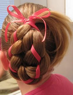 4 Strand Braid with Ribbon In It