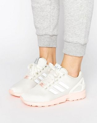 Adidas Flux White And Silver