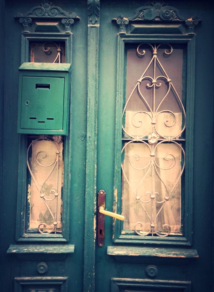 Green door, Selce, Croatia