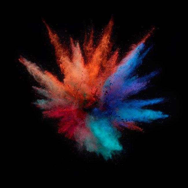 pigment fireworks & soft gradients