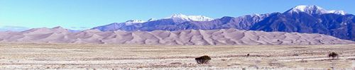 Great Sand Dunes National Park and Preserve is a United States National Park located in the San Luis Valley, in the easternmost parts of Alamosa County and Saguache County, Colorado, United States.
