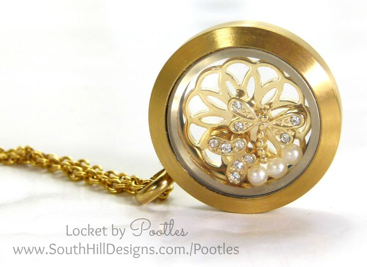 South Hill Designs & Stampin' Up! Sunday Golden Butterflies Showcase Ooooo well today I had to share small, simple and elegant. I wanted to show off the new Gold Dragonfly charm that has just j...