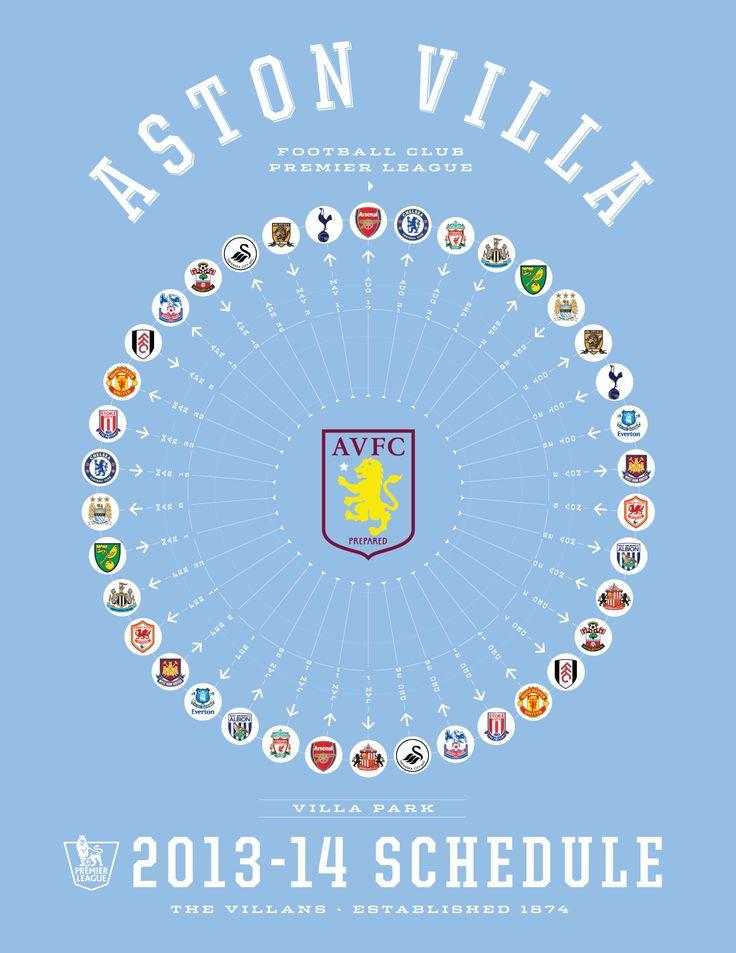 Aston Villa 2013-14 Premier League Schedule