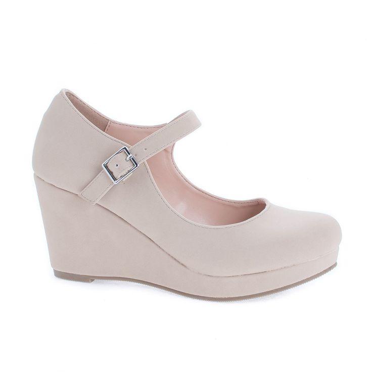 Mark Round Toe Mary Jane Platform Wedge Dress Sandals