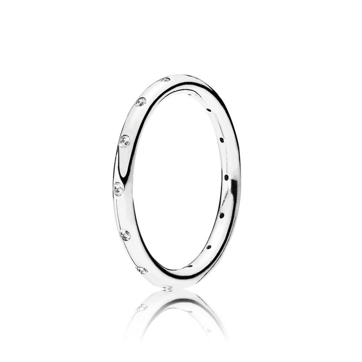 1798ea577 ... This stackable sterling silver band sparkles from inlaid cubic zirconia  stones which lend a luxurious touch
