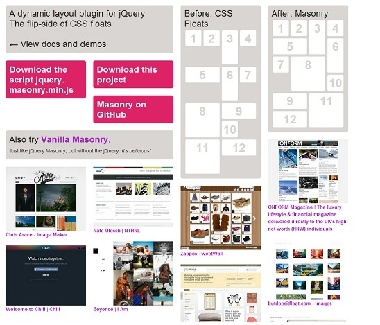 Masonry is an excellent jQuery plugin, which is used to create dynamic and adaptive layouts. This plugin helps to rearrange the elements in your responsive design, so they can fit better in the open-spots on the grid.