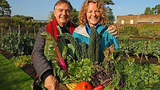 Grilled asparagus with vegetable crumble recipe by Raymond Blanc {Kew on a Plate) on BBC