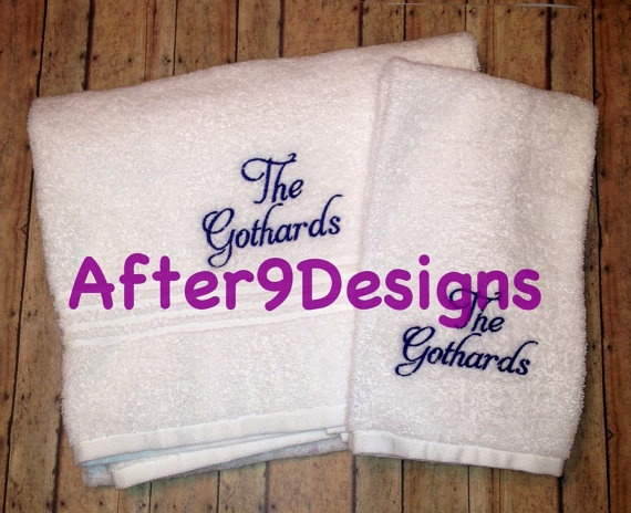 Best Monogram Ideas Images On Pinterest Bath Towels - Monogrammed hand towels for small bathroom ideas