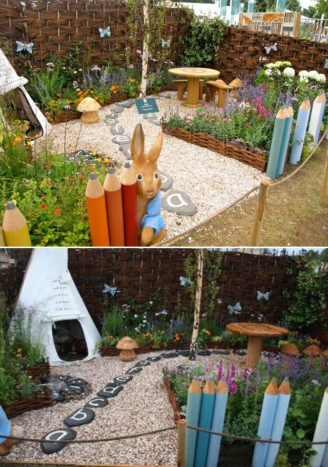 15 Cute And Fun Play Garden Ideas For Kids Play Garden