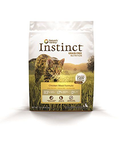 awesome Nature's Variety Instinct Grain-Free Chicken Meal Formula Dry Cat Food, 12.1 lb. Bag